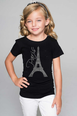 Paris Eiffel Tower Tee - Girls - Pineapple Clothing