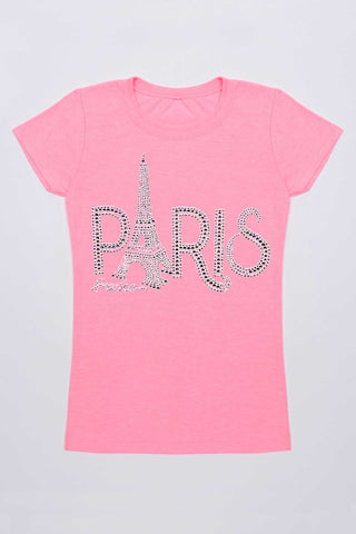 Eiffel Tower Paris Tee - Girls - Pineapple Clothing