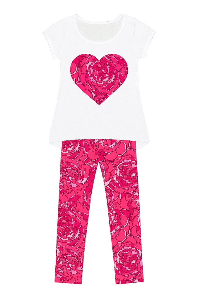 Peony Blaze Mary Set - Girls - Pineapple Clothing