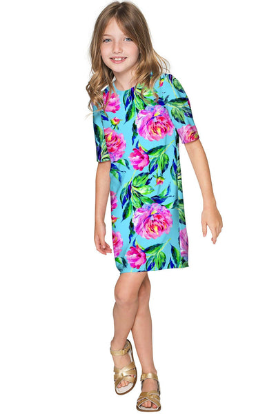 Peony Splash Grace Shift Floral Mommy and Me Dresses