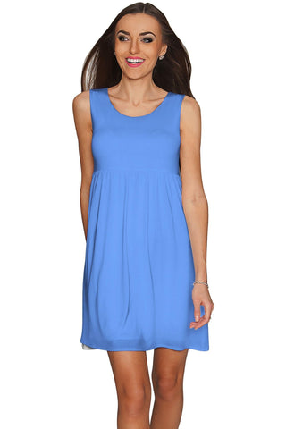 Periwinkle Blue Sanibel Empire Babydoll Dress - Women - Pineapple Clothing