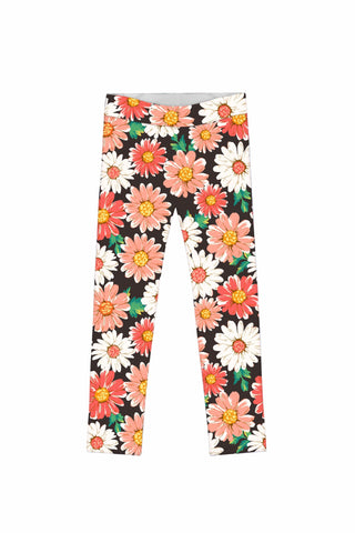 Pick Me Lucy Cute Floral Daisy Print Leggings - Girls - Pineapple Clothing