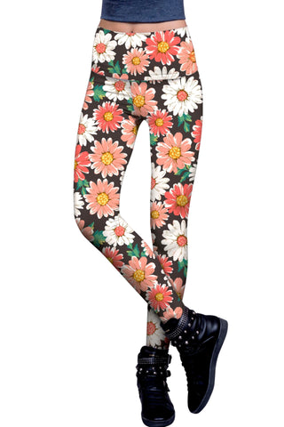 Pick Me Lucy Floral Printed Performance Leggings - Women - Pineapple Clothing
