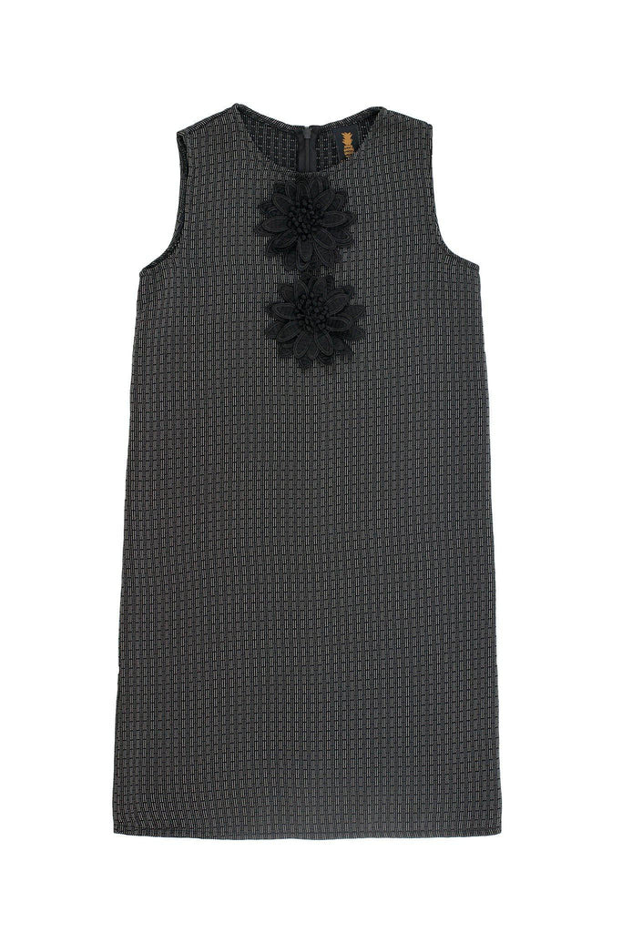 Black Grey Sleeveless Shift Party Cocktail Fancy Dress - Girls - Pineapple Clothing