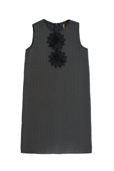 Black Grey Sleeveless Shift Party Cocktail Fancy Dress - Girls