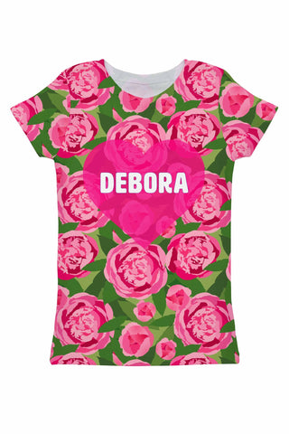 Pink Vibes Customized NAME Zoe Floral Print Tee - Women - Pineapple Clothing