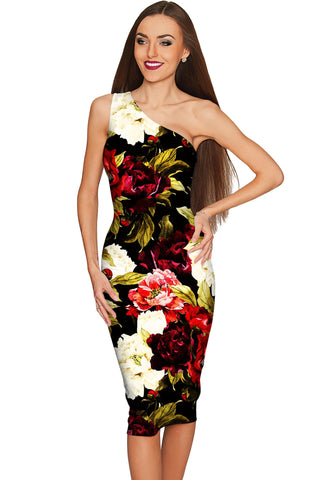 Put Your Crown On Layla Black Floral Evening Dress - Women - Pineapple Clothing