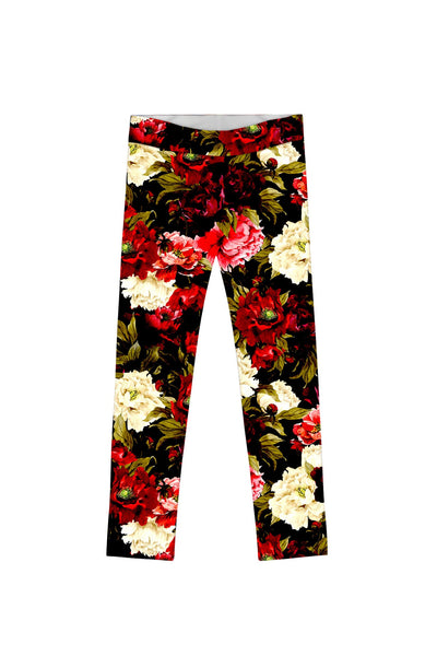 Put Your Crown On Lucy Back Floral Fancy Legging - Girls - Pineapple Clothing