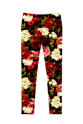 Put Your Crown On Lucy Black Floral Print Leggings - Women - Pineapple Clothing