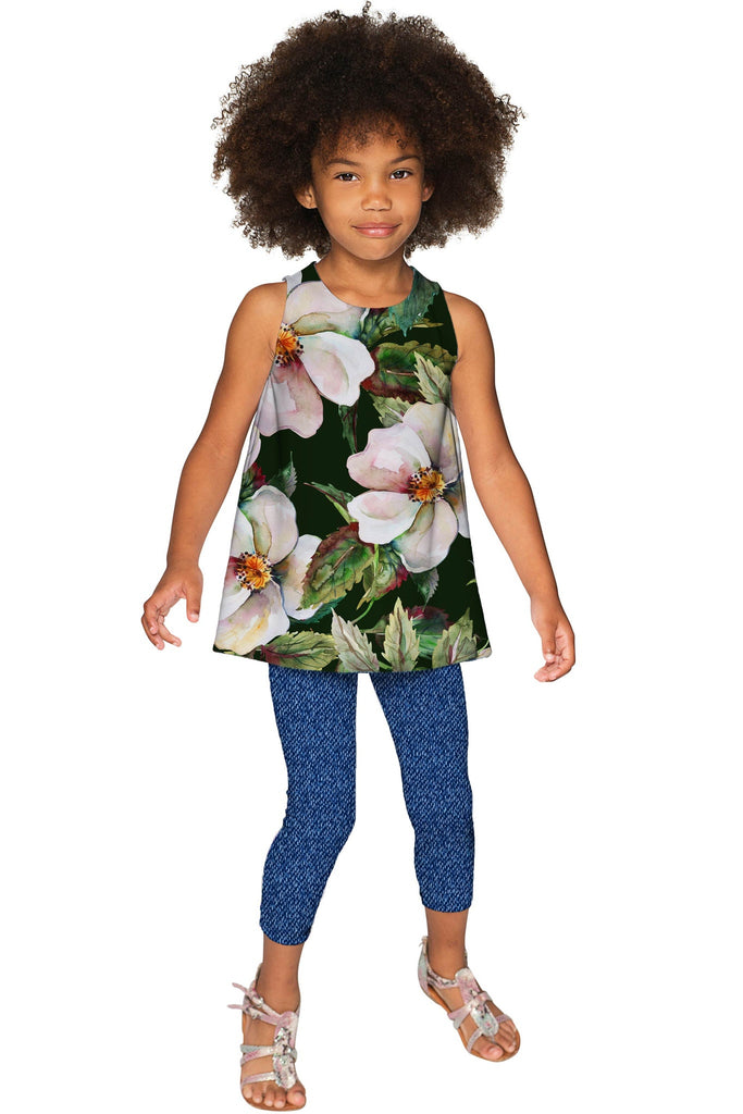 Queen of Flowers Emily Green Designer Sleeveless Top - Girls - Pineapple Clothing