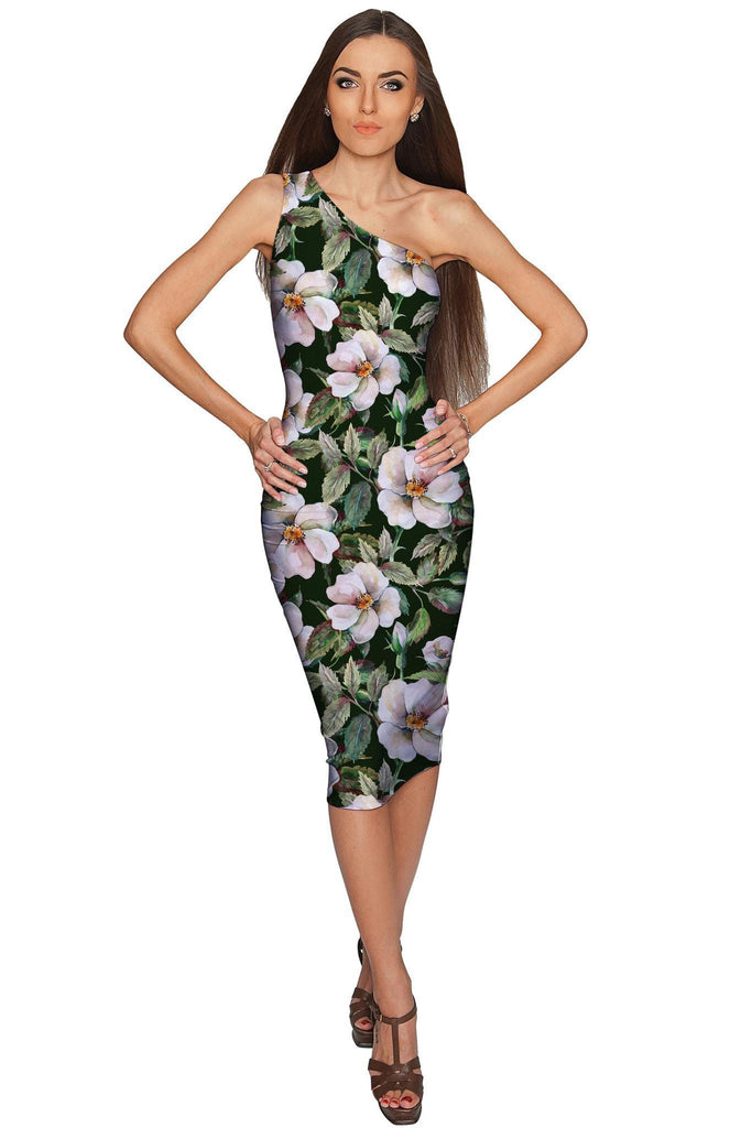 Queen of Flowers Layla Green Evening Midi Dress - Women - Pineapple Clothing