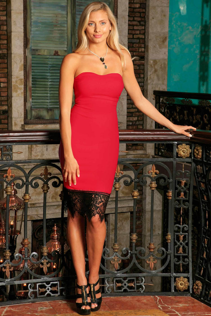 coupon code sold worldwide attractive colour Cherry Red Stretchy Sleeveless Fancy Mommy and Me Party Dresses