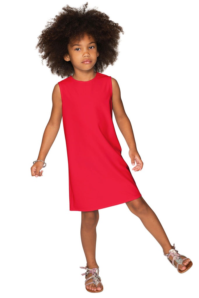 Cherry Red Stretchy Spring Summer Party Cute Mommy and Me Dresses - Pineapple Clothing