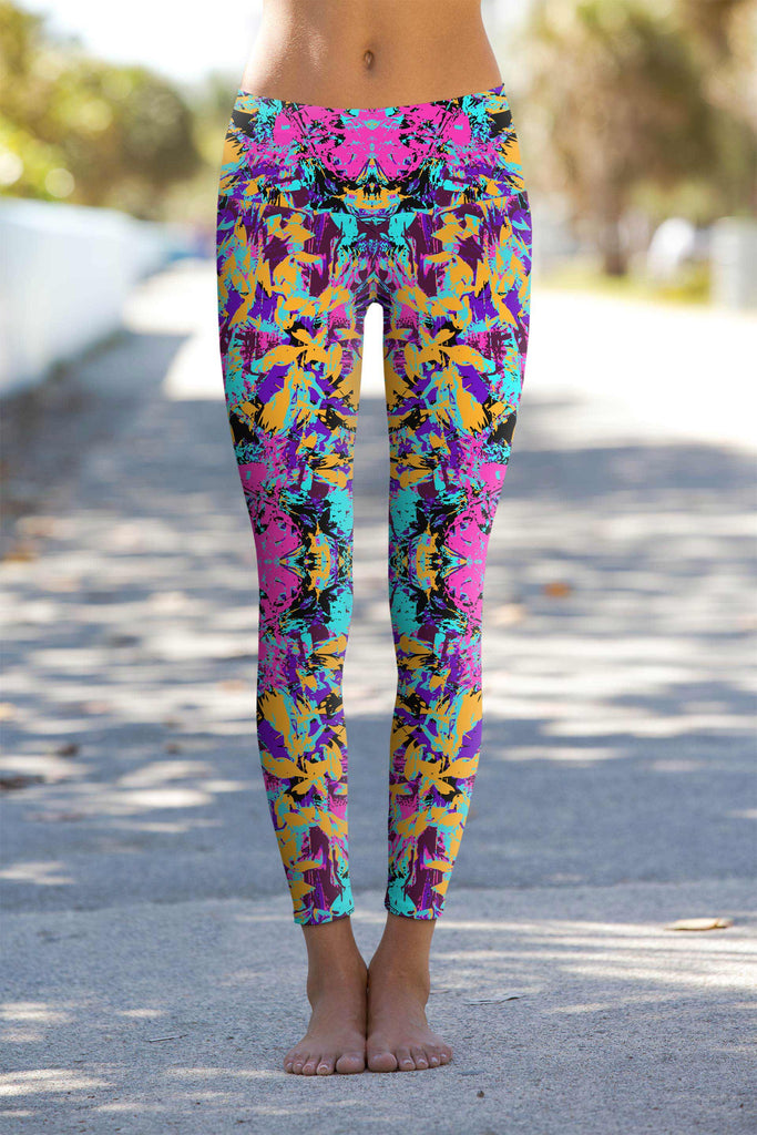 Reflection Lucy Printed Performance Yoga Leggings - Women - Pineapple Clothing