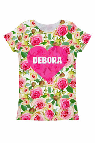 Rosarium Customized NAME Zoe Floral T-Shirt - Women - Pineapple Clothing