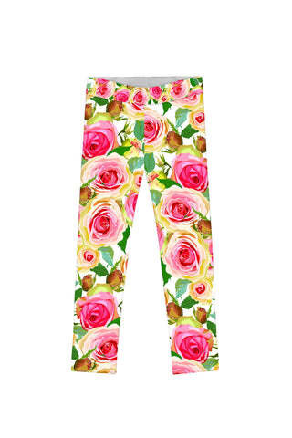 Rosarium Lucy Cute Stylish Floral Printed Leggings - Girls - Pineapple Clothing