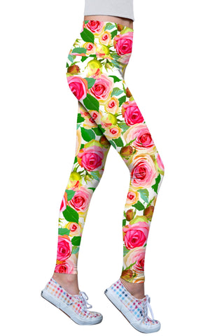 Rosarium Lucy Floral Printed Performance Leggings - Women - Pineapple Clothing