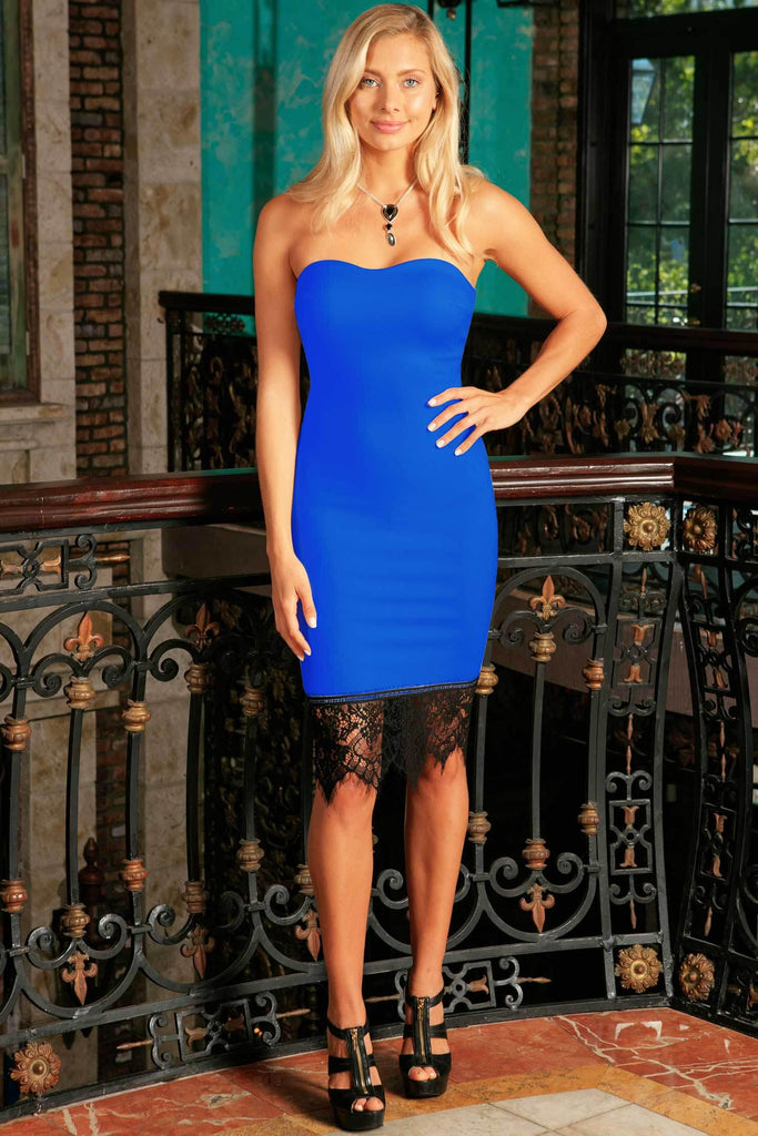 Royal Blue Stretchy Sleeveless Fancy Mommy and Me Party Dresses