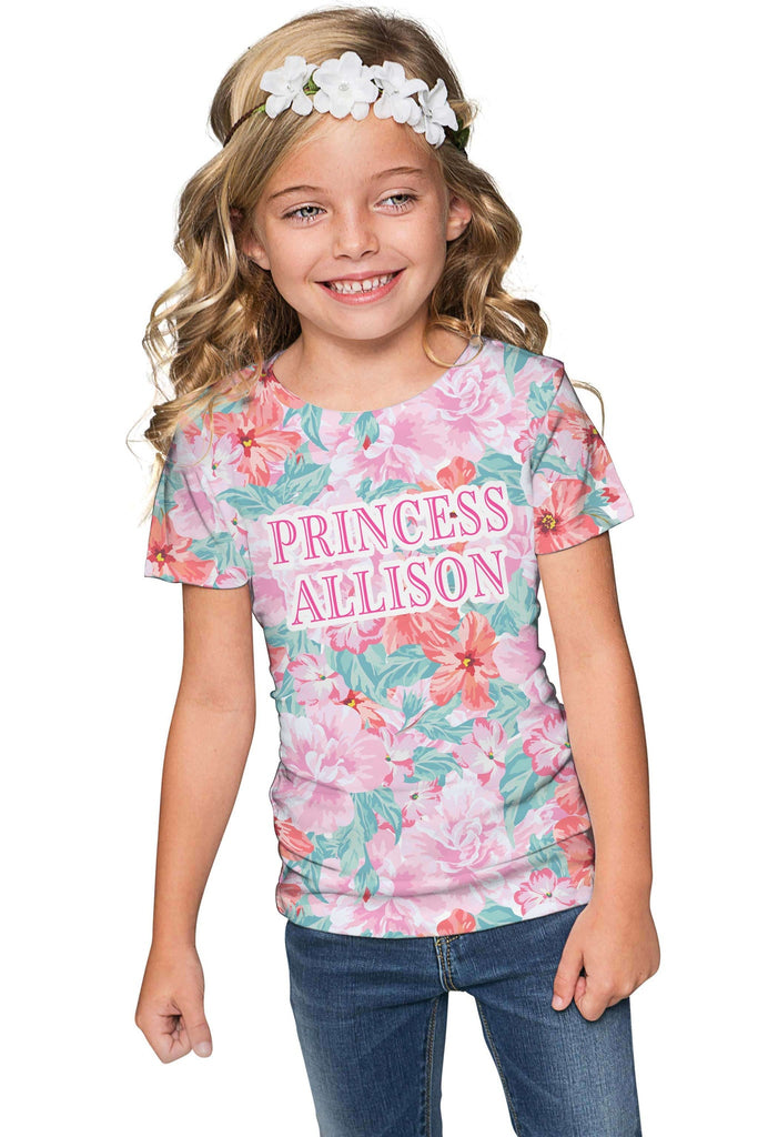 Spring Garden Customized NAME Zoe T-Shirt - Girls - Pineapple Clothing