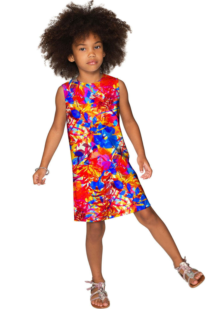 Summer Dizziness Adele Fashion Printed Shift Dress - Girls - Pineapple Clothing