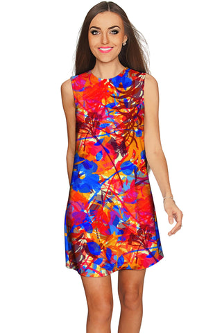 Summer Dizziness Adele Cute Printed Shift Dress - Women - Pineapple Clothing