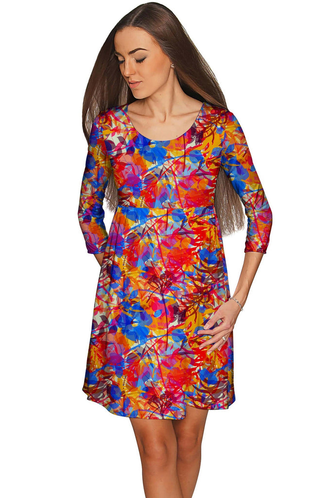 Summer Dizziness Gloria Fit & Flare Printed Dress - Women - Pineapple Clothing