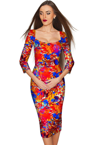 Summer Dizziness Lili Elegant Pencil Midi Dress - Women - Pineapple Clothing