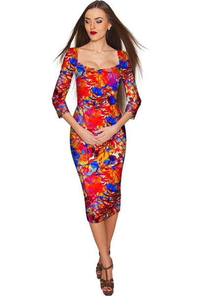 Summer Dizziness Lili Elegant Pencil Midi Dress - Women