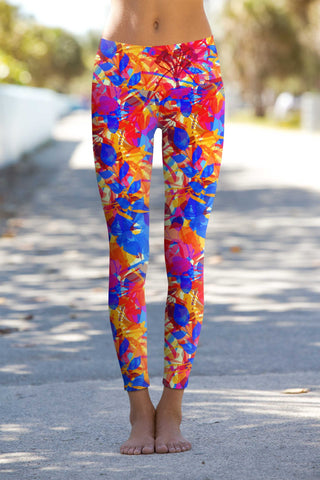 Summer Dizziness Lucy Printed Performance Legging - Women - Pineapple Clothing