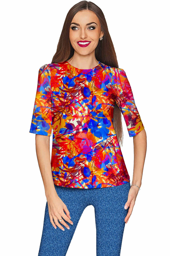 Summer Dizziness Sophia Elbow Sleeve Dressy Top - Mommy & Me - Pineapple Clothing
