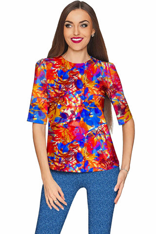Summer Dizziness Sophia Elbow Sleeve Dressy Top - Women - Pineapple Clothing