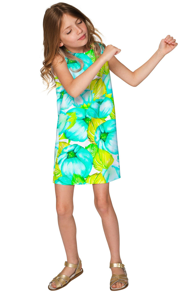 Sunny Day Adele Pretty Beach Printed Shift Dress - Girls - Pineapple Clothing