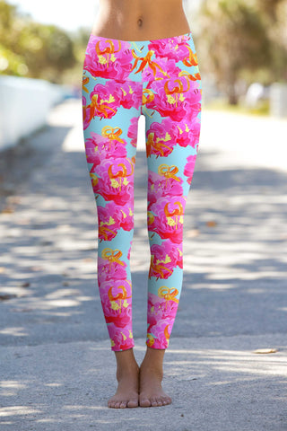 Sweet Illusion Lucy Floral Print Performance Legging - Women - Pineapple Clothing