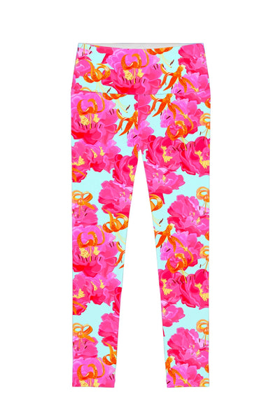 Sweet Illusion Lucy Floral Print Performance Legging - Women