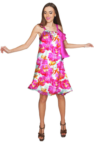 Sweet Illusion Melody Pink Chiffon Summer Dress - Women - Pineapple Clothing