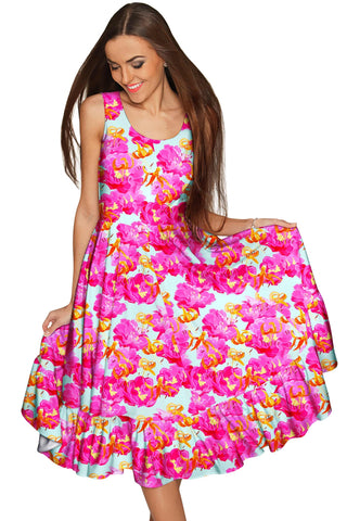 Sweet Illusion Vizcaya Fancy Summer Pink Dress - Women - Pineapple Clothing