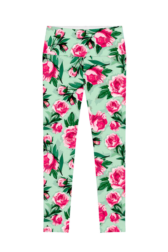 Sweetheart Lucy Floral Print Performance Leggings - Women - Pineapple Clothing