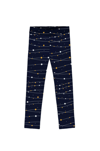 To the Moon & Back Lucy Navy Blue Star Print Leggings - Girls