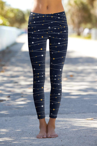 To the Moon & Back Lucy Navy Blue Leggings Yoga Pants - Women