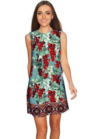 Toscana Adele Grape Print Shift Mini Dress - Women - Pineapple Clothing