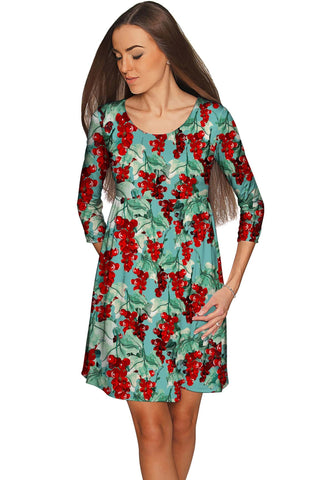 Toscana Gloria Green Pattern Empire Waist Dress - Women - Pineapple Clothing