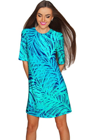 Tropical Dream Grace Green Printed Shift Dress - Women - Pineapple Clothing