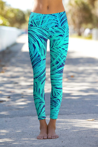 Tropical Dream Lucy Printed Performance Leggings - Women - Pineapple Clothing