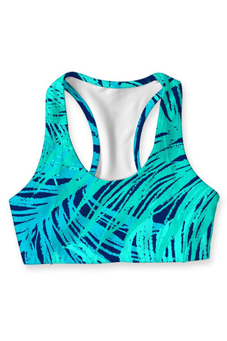 Tropical Dream Stella Seamless Racerback Sport Bra - Women - Pineapple Clothing