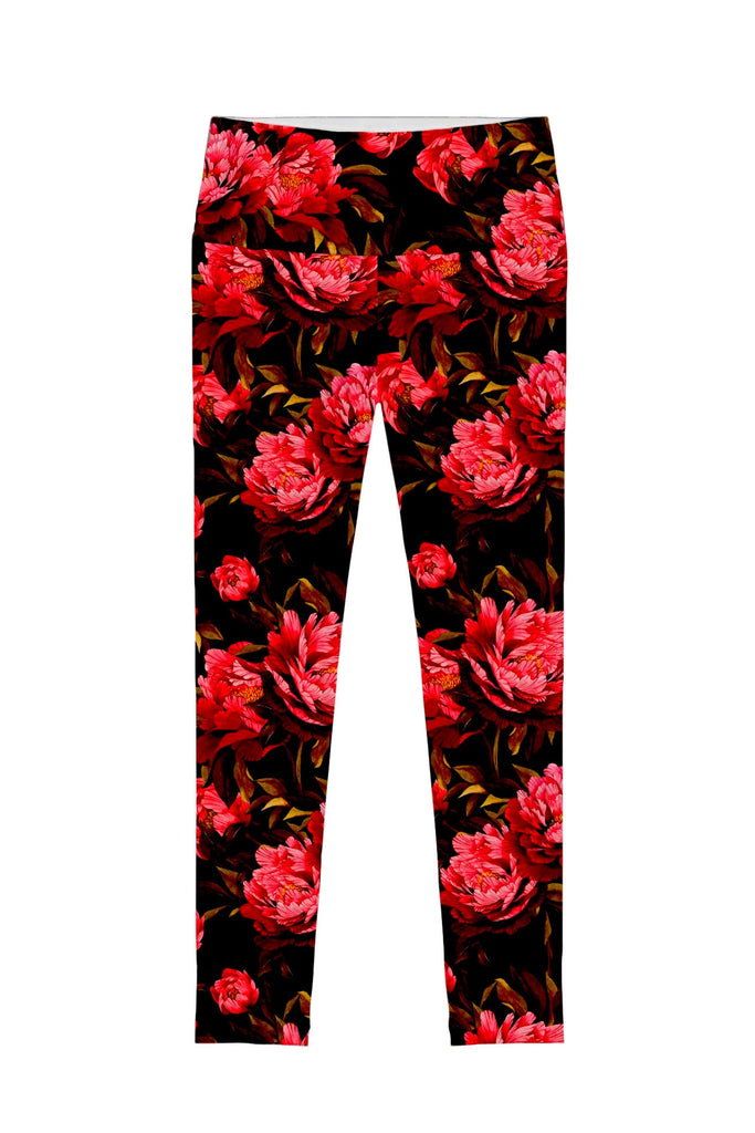 True Passion Lucy Floral Print Performance Legging - Women - Pineapple Clothing