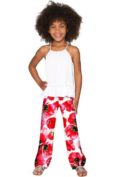 Tulip Salsa Amelia Cute Summer Pull-On Palazzo Pant - Girls