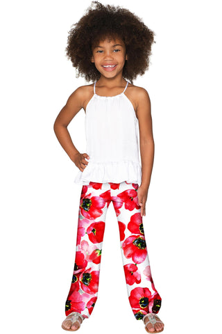 Tulip Salsa Amelia Cute Summer Pull-On Palazzo Pant - Girls - Pineapple Clothing