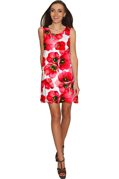 Tulip Salsa Sanibel Empire Waist Red Summer Dress - Women