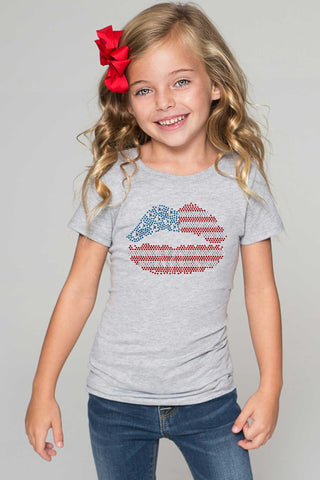 USA Lips Tee - Girls - Pineapple Clothing