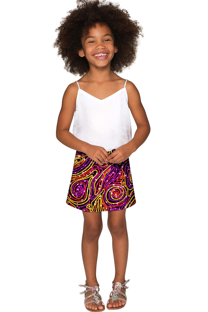 Vibrant Galaxy Aria A-Line Skirt - Girls - Pineapple Clothing